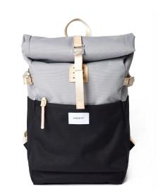 Sandqvist Sandqvist Backpack Ilon black multi grey/natural leather