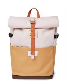 Sandqvist Sandqvist Backpack Ilon multi yellow/sand/olive natural leather