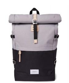 Sandqvist Sandqvist Backpack Bernt black multi grey/natural leather