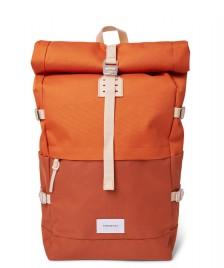 Sandqvist Sandqvist Backpack Bernt orange multi/natural leather