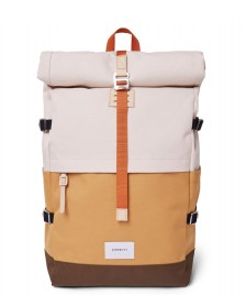 Sandqvist Sandqvist Backpack Bernt multi yellow/sand/olive/natural leather