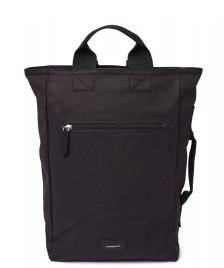 Sandqvist Sandqvist Backpack Tony Vegan black with black webbing