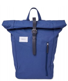 Sandqvist Sandqvist Backpack Dante blue with blue leather