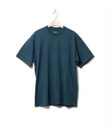 Carhartt WIP Carhartt WIP T-Shirt Mosby Script green deep lagoon acid wash