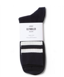 Klitmoller Collective Klitmoller Socks Retro blue navy/cream