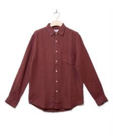 Portuguese Flannel Portuguese Flannel Shirt Linen red bordeaux