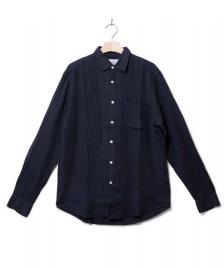 Portuguese Flannel Portuguese Flannel Shirt Linen blue navy