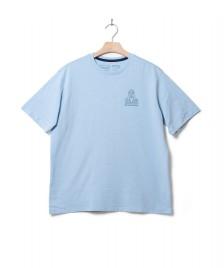 Patagonia Patagonia T-Shirt Peak Protector Badge blue fin
