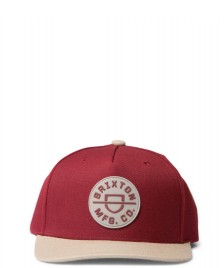 Brixton Brixton Snap Cap Crest C red cowhide/vanilla
