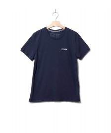 Patagonia Patagonia W T-Shirt P-6 Logo blue new navy