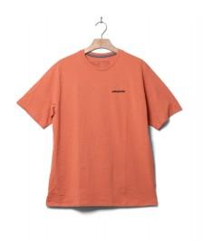 Patagonia Patagonia T-Shirt P-6 Logo orange coho coral