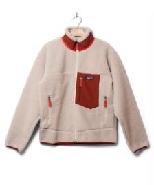 Patagonia Patagonia Jacket Classic Retro-X beige natural w/barn red