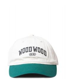 Wood Wood Wood Wood 6 Panel Brian Tennis Cap beige offwhite green
