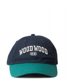 Wood Wood Wood Wood 6 Panel Brian Tennis Cap blue/green
