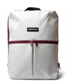 Freitag Freitag Backpack Fringe white/red