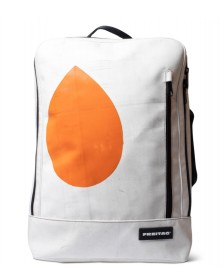 Freitag Freitag Backpack Hazzard white used/orange