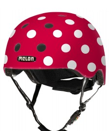 Melon Melon Helmet Dotty red/white