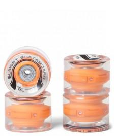 Sunset Skateboard Co. Sunset Wheels Flare LED 65er orange light