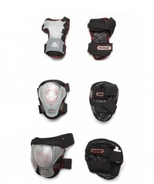 Powerslide Powerslide Protection Pro Air Tri-Pack black/transparent