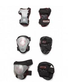 Powerslide Powerslide Protection Pro Air Tri-Pack black/transparent
