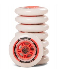 Powerslide Powerslide Wheels One 100er 8-Pack inkl. Kugellager white/red