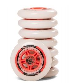 Powerslide Powerslide Wheels One 100er 8-Pack inkl. Kugellager white/red