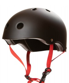 S1 S1 Helmet S1 Lifer black matte red straps