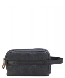 Qwstion Qwstion Washbag Travel Kit washed black