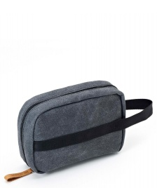 Qwstion Qwstion Washbag Toiletry Kit washed black