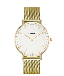Cluse Cluse Watch La Boheme gold/white mesh