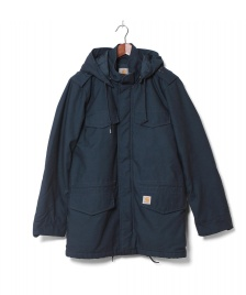 Carhartt WIP Carhartt WIP Winterjacket Hickman Coat blue dark petrol washed