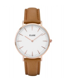 Cluse Cluse Watch La Boheme brown caramel/white rose gold