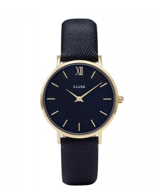 Cluse Cluse Watch Minuit blue midnight/blue gold