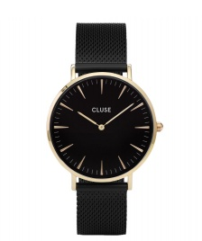 Cluse Cluse Watch La Boheme Mesh black/black gold