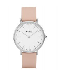 Cluse Cluse Watch La Boheme pink nude/white silver
