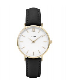 Cluse Cluse Watch Minuit black/white gold