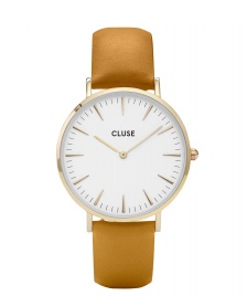 Cluse Cluse Watch La Boheme yellow mustard/white gold