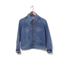 Levis Levis W Denimjacket Zip Orange Tab blue kauai