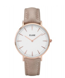 Cluse Cluse Watch La Boheme brown hazelnut/white rose gold