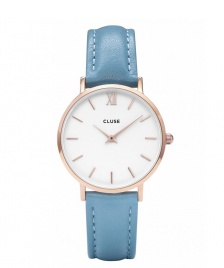Cluse Cluse Watch Minuit blue retro/white rosegold