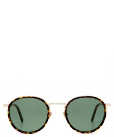 Viu Viu Sunglasses Voyager Ti/Ac star gold/dunkles havanna grün