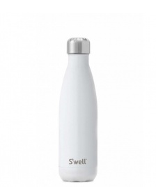 Swell Swell Water Bottle MD white shimmer angel food