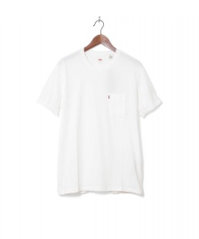 Levis Levis T-Shirt Setin Sunset Pocket beige white smoke
