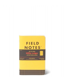 Field Notes Field Notes Utility Ledger 3 Pack yellow
