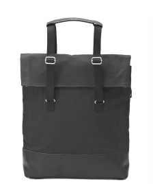 Qwstion Qwstion Bag Day Tote black leather canvas
