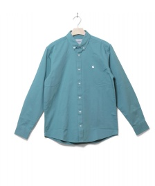 Carhartt WIP Carhartt WIP Shirt Madison green soft teal/white