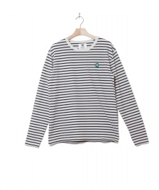 Wood Wood Wood Wood Longsleeve Mel white off/navy stripes