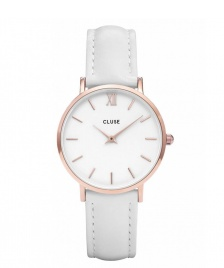 Cluse Cluse Watch Minuit white/white rose gold
