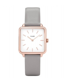 Cluse Cluse Watch La Tetragone grey/white rose gold