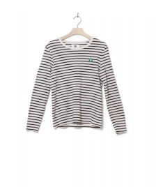 Wood Wood Wood Wood W Longsleeve Moa white off/navy stripes